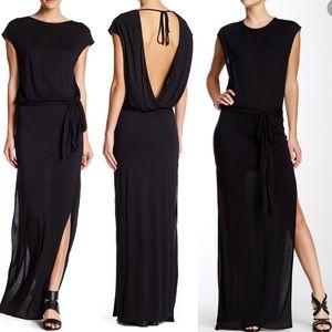 Haute Hippie L Short Sleeve Draped Back Dress
